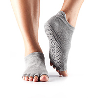 Grip Half Toe Low Rise Heather Grey