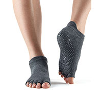Grip Half Toe Low Rise Charcoal/Grey