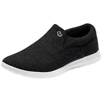 Slip On Black with White Sole
