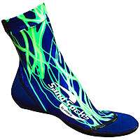 Sand Socks Green Lightning